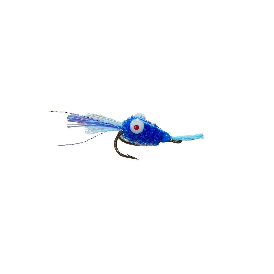 Mouche crevette DG bleu -
